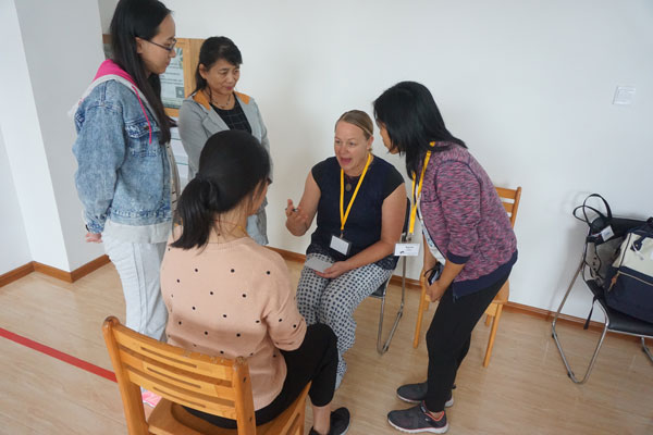 Breakout group at the ROL Autism workshop in Jinan, China
