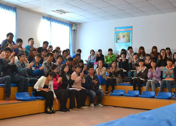 Reach Out And Learn Dental Health Summit, at a dental school in Jinan, China