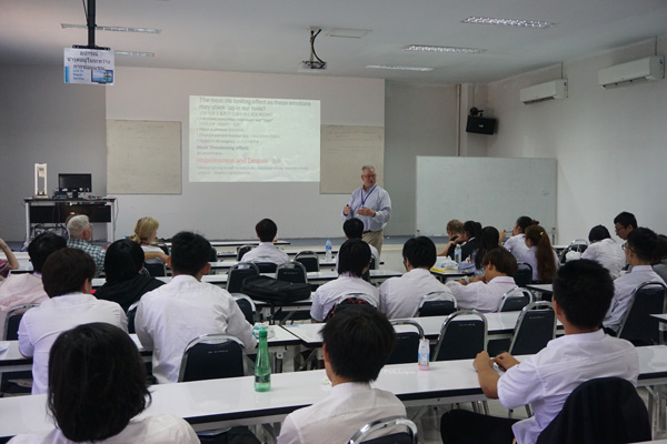 North Chiang Mai University, Dr. Brian Barthel presents about emotions