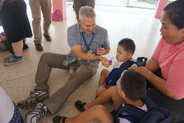 Activities with children at a school for children with disabilities in Chiang Mai, Thailand